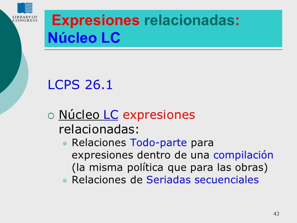Expresiones relacionadas: Núcleo LC