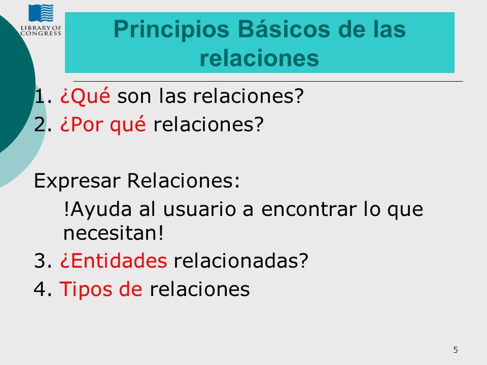 Principios Básicos de las relaciones