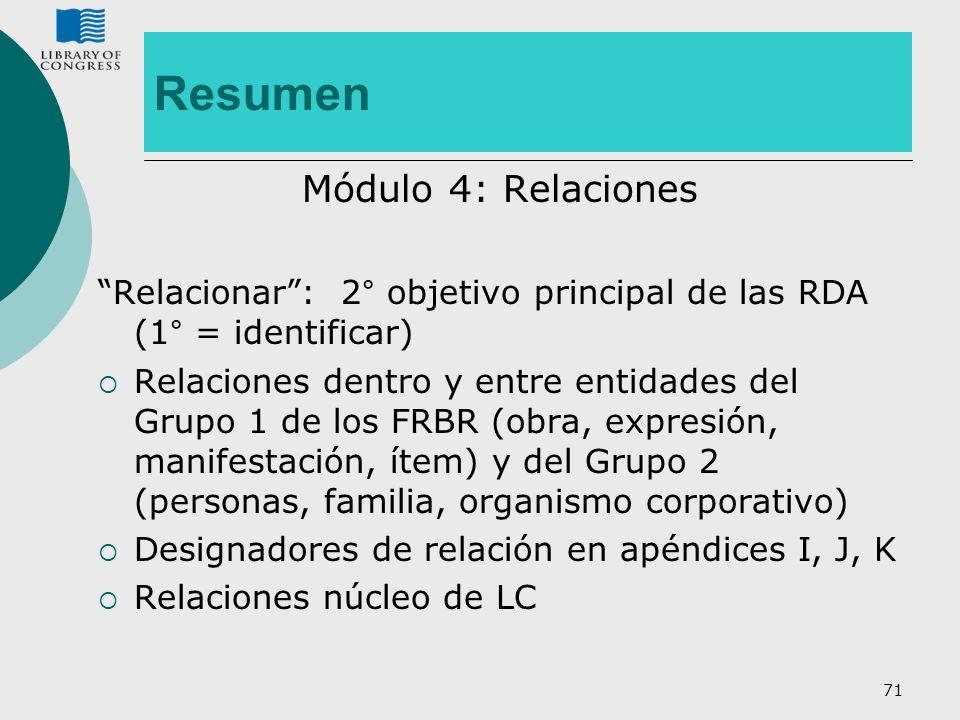 Resumen Módulo 4: Relaciones