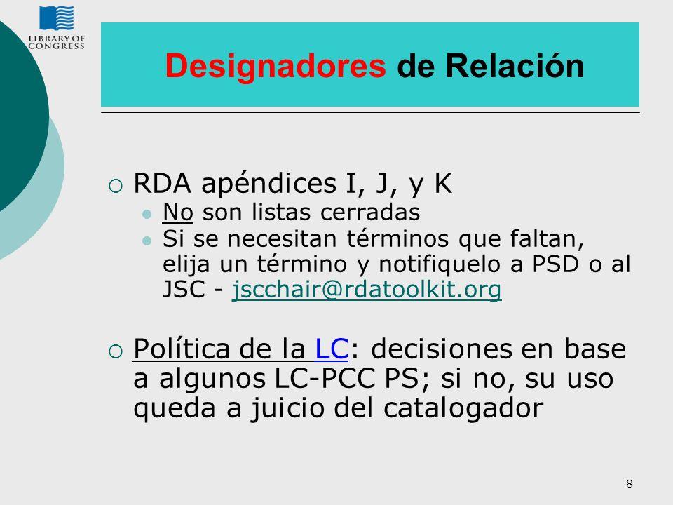 Designadores de Relación