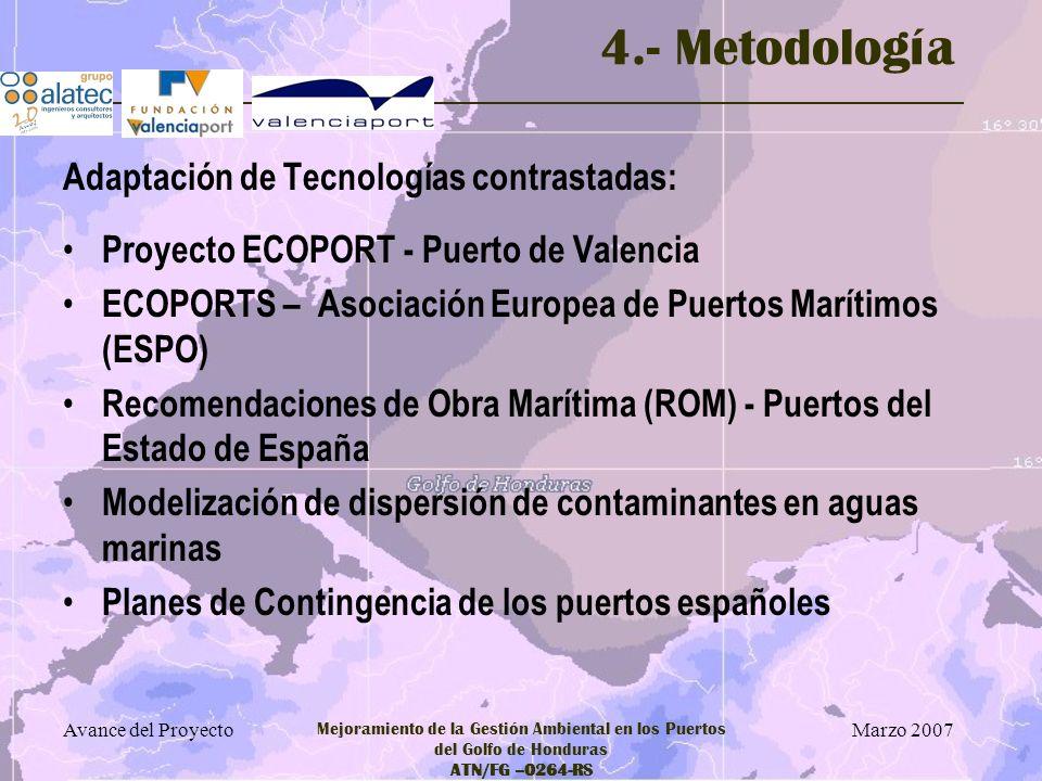 4.- Metodología Adaptación de Tecnologías contrastadas:
