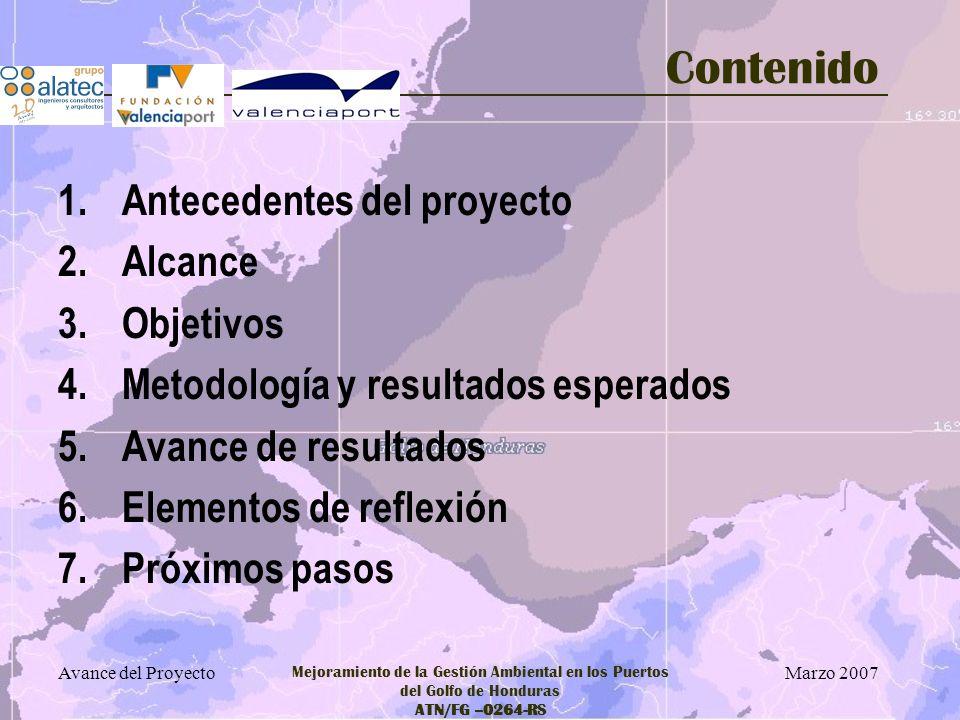 Contenido Antecedentes del proyecto Alcance Objetivos