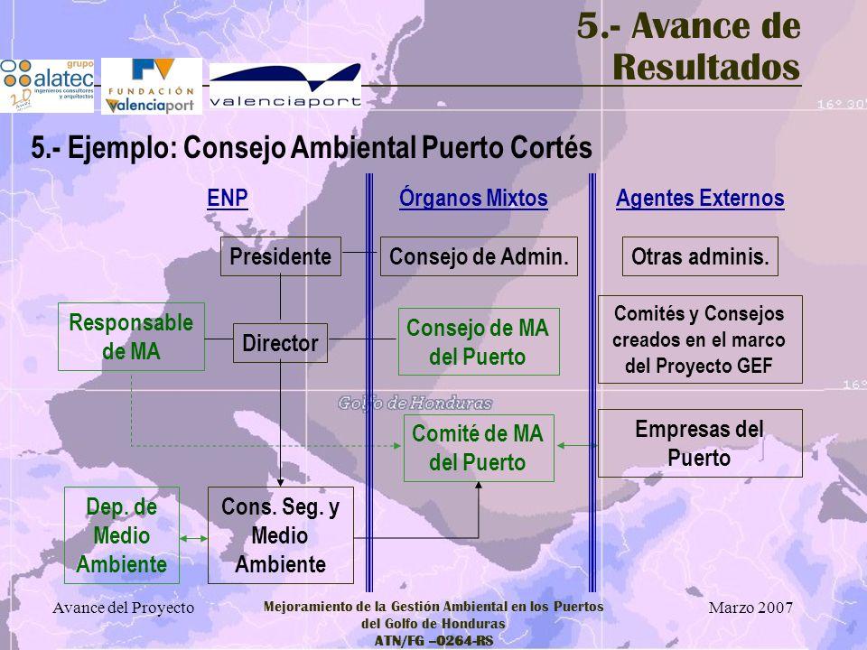 Comités y Consejos creados en el marco del Proyecto GEF