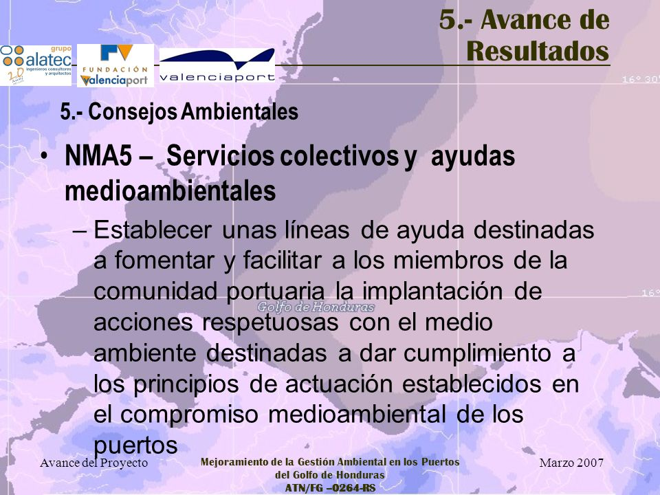 NMA5 – Servicios colectivos y ayudas medioambientales