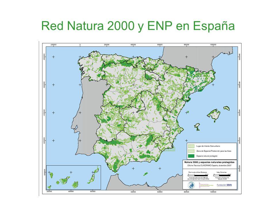 Red Natura 2000 y ENP en España