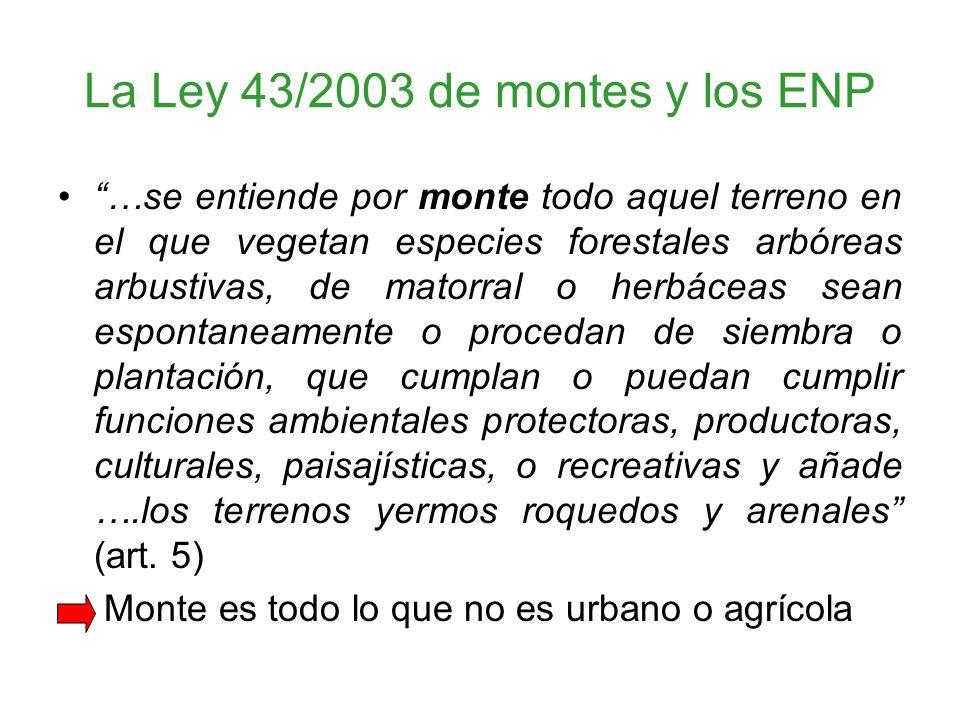 La Ley 43/2003 de montes y los ENP
