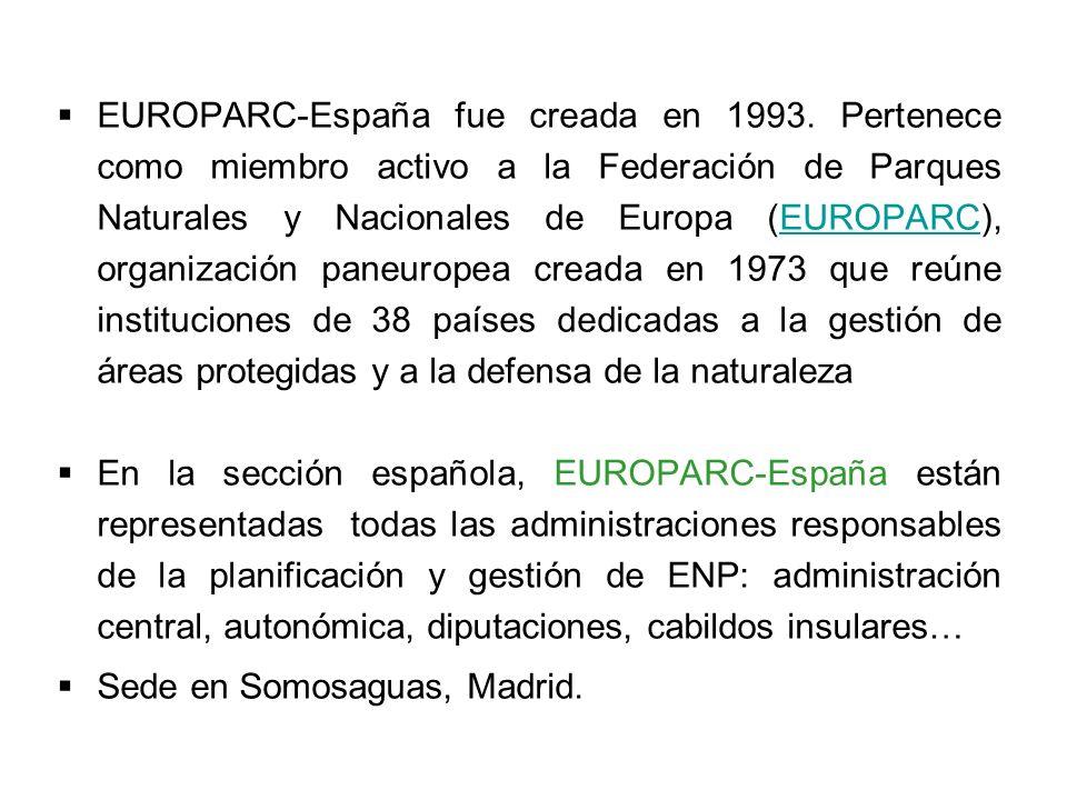 EUROPARC-España fue creada en 1993
