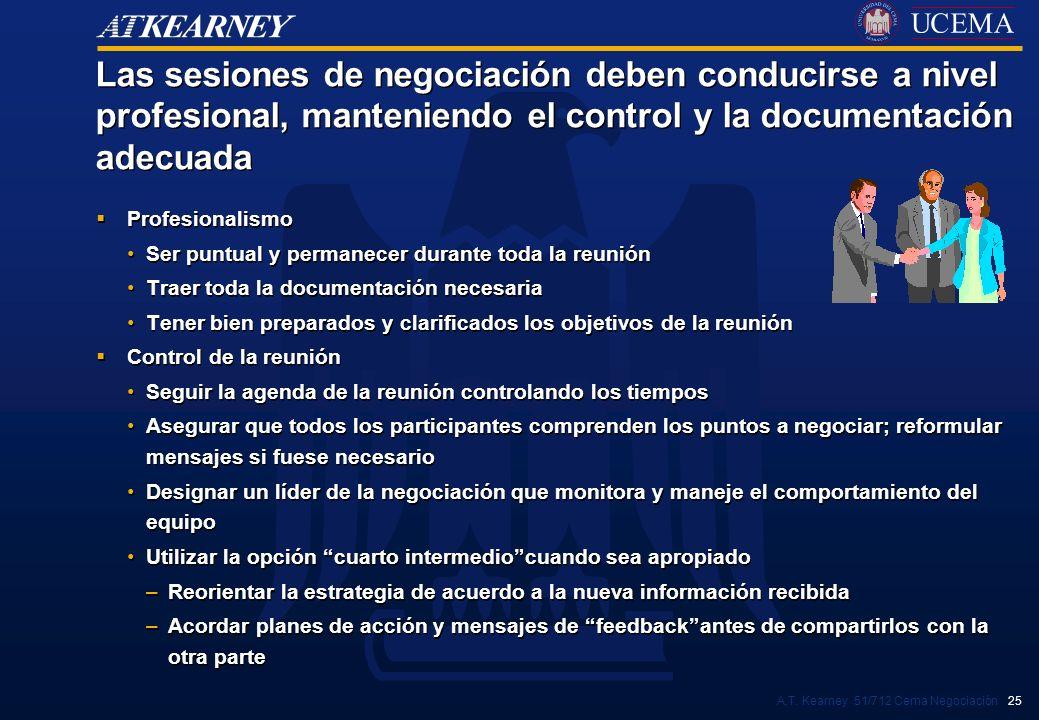 Las sesiones de negociación deben conducirse a nivel profesional, manteniendo el control y la documentación adecuada