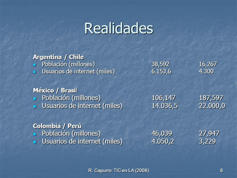 Realidades Población (millones) 106,147 187,597