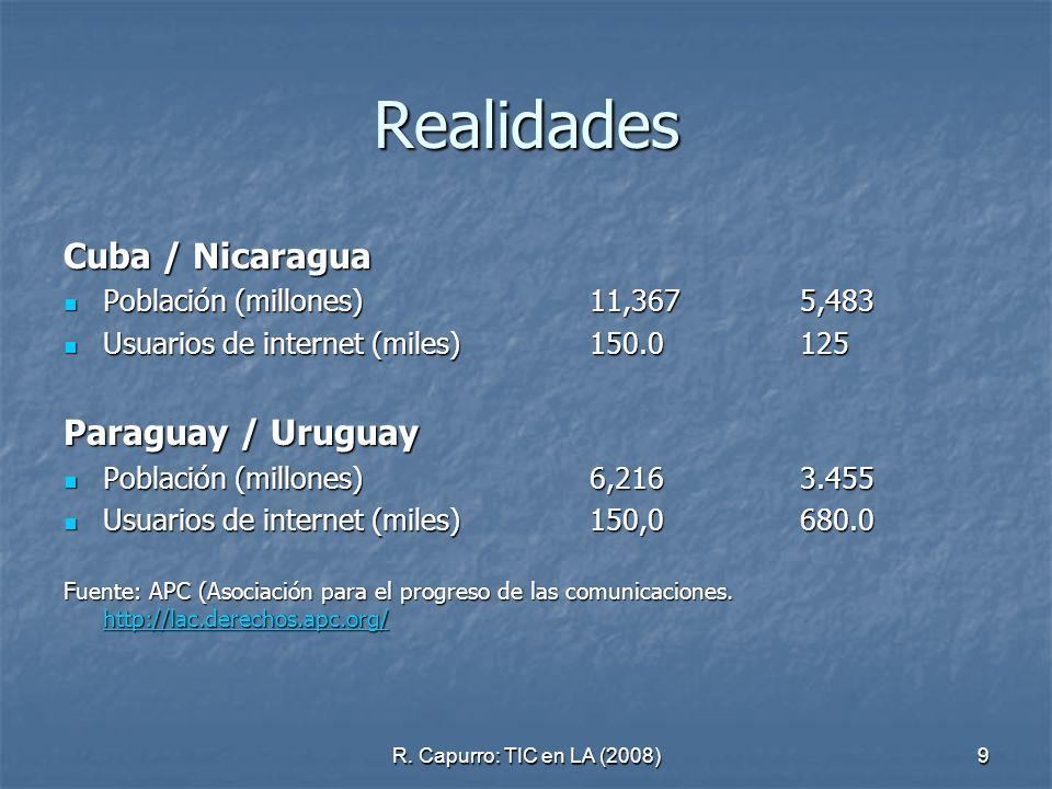 Realidades Cuba / Nicaragua Paraguay / Uruguay