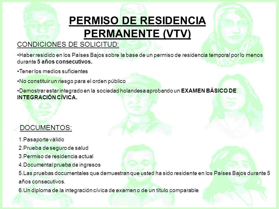 PERMISO DE RESIDENCIA PERMANENTE (VTV)