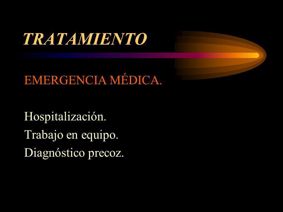 TRATAMIENTO EMERGENCIA MÉDICA. Hospitalización. Trabajo en equipo.
