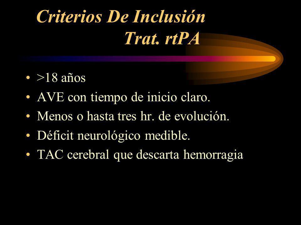 Criterios De Inclusión Trat. rtPA