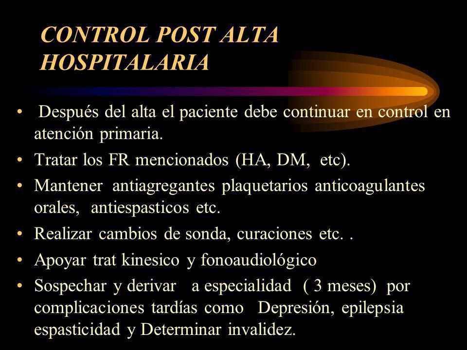 CONTROL POST ALTA HOSPITALARIA