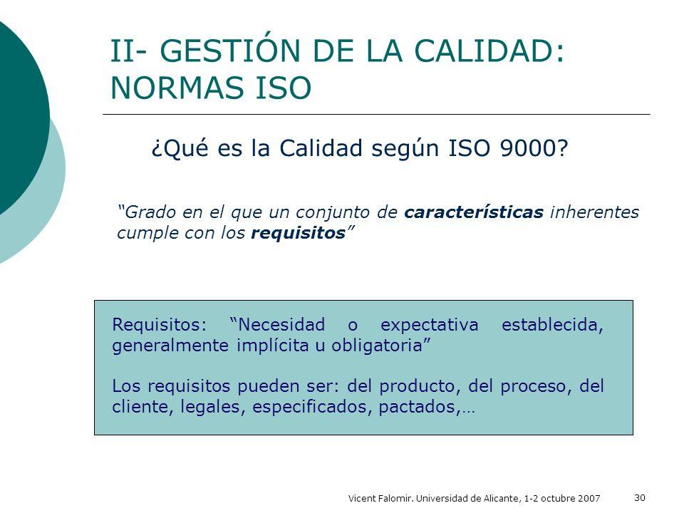 ¿Qué es la Calidad según ISO 9000