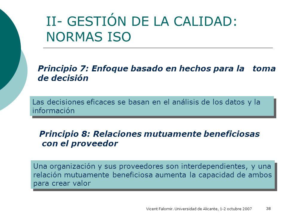 II- GESTIÓN DE LA CALIDAD: NORMAS ISO