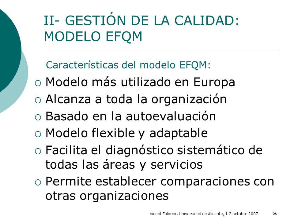 Características del modelo EFQM: