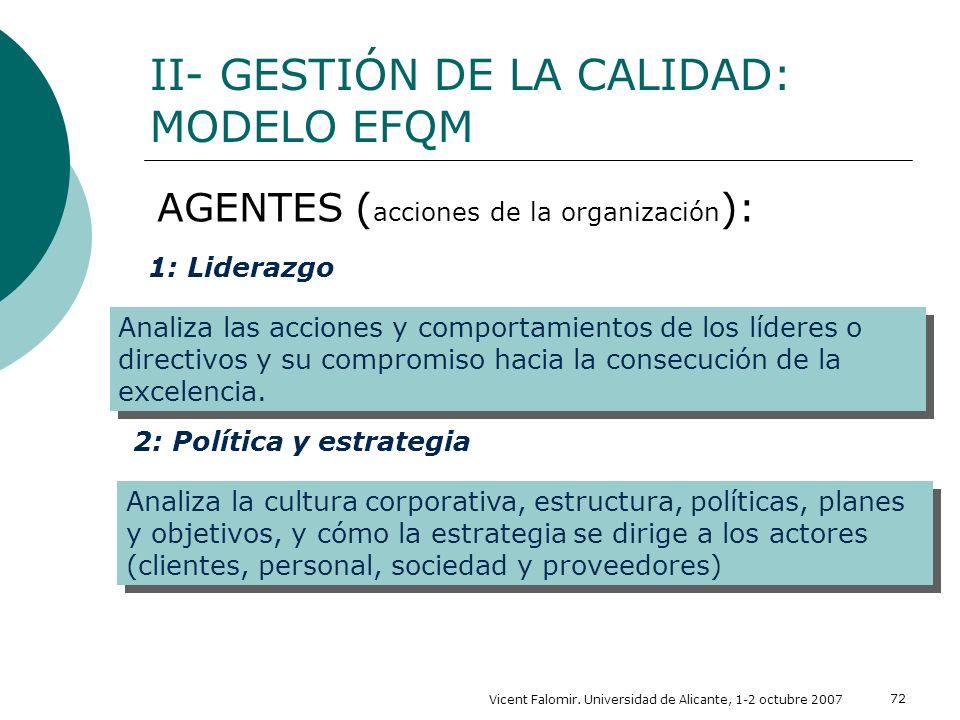 II- GESTIÓN DE LA CALIDAD: MODELO EFQM