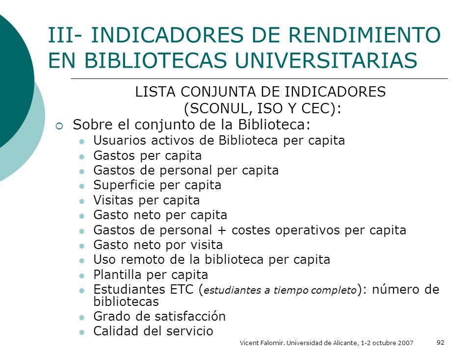 LISTA CONJUNTA DE INDICADORES