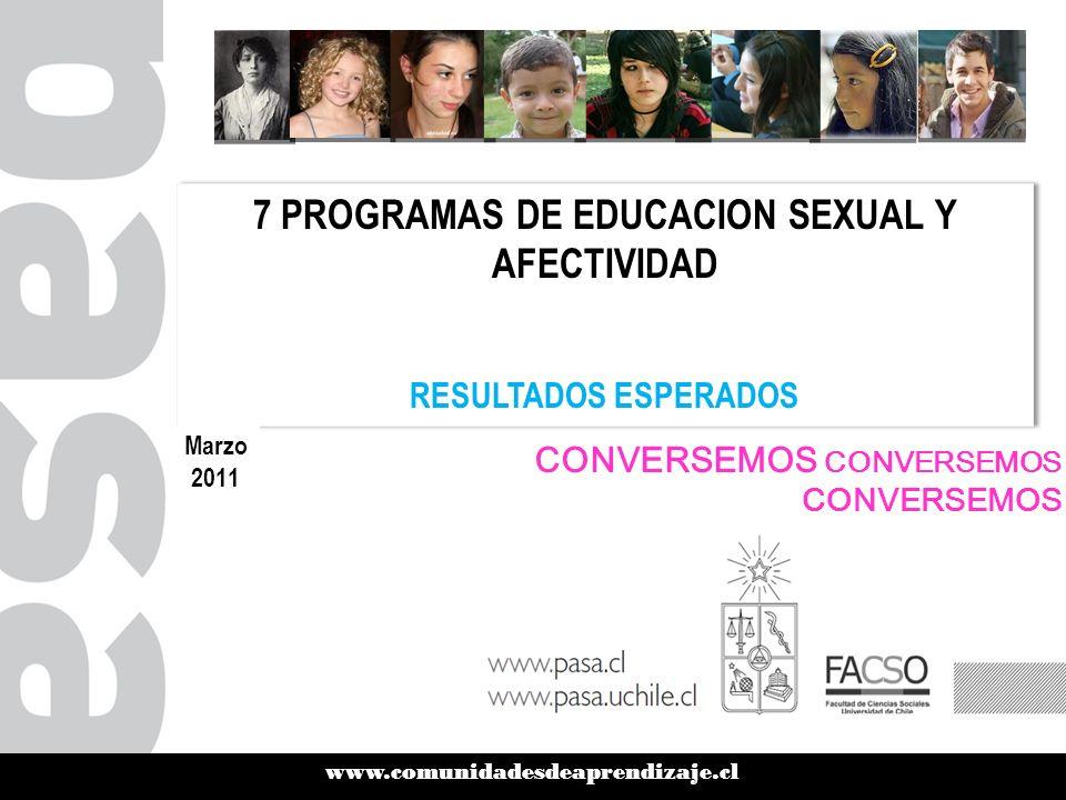 7 PROGRAMAS DE EDUCACION SEXUAL Y AFECTIVIDAD