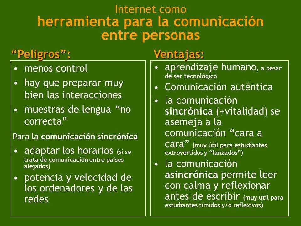 Internet como herramienta para la comunicación entre personas