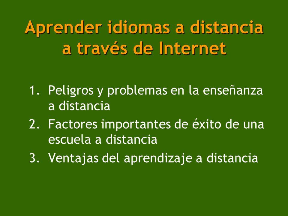 Aprender idiomas a distancia a través de Internet