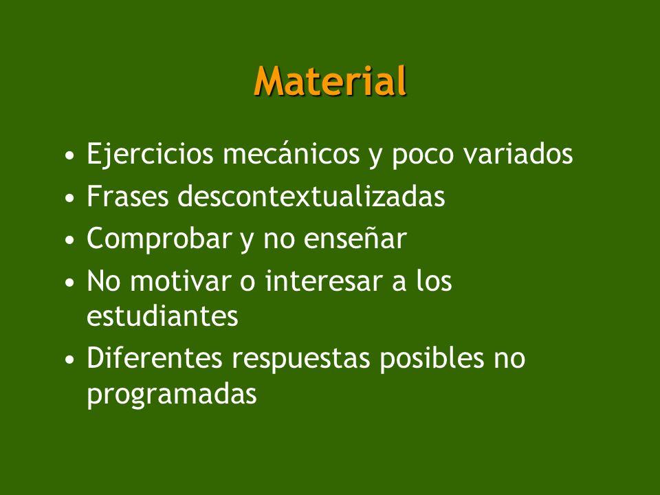 Material Ejercicios mecánicos y poco variados