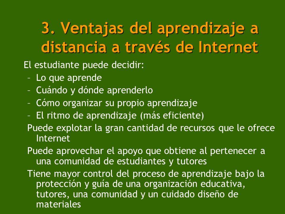 3. Ventajas del aprendizaje a distancia a través de Internet