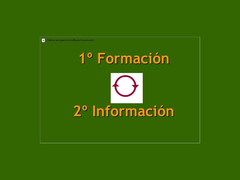 1º Formación 2º Información