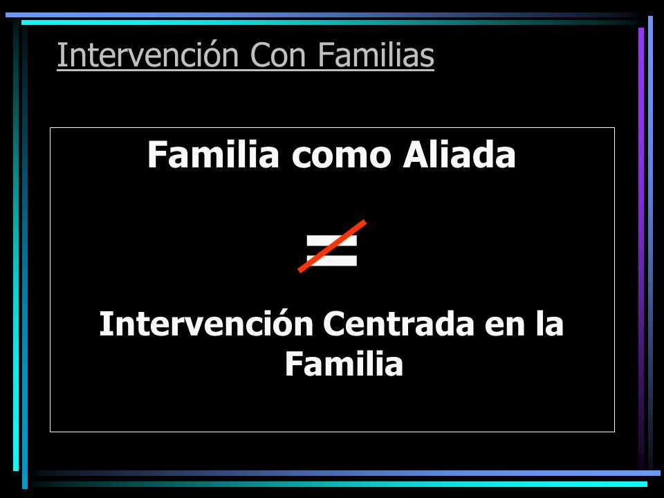 Intervención Con Familias