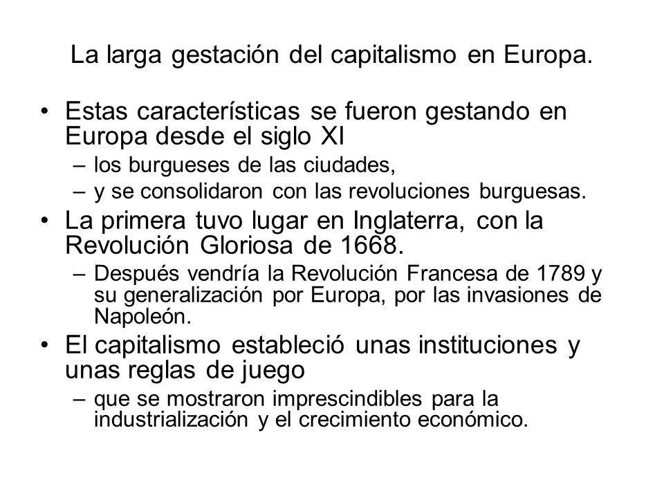 La larga gestación del capitalismo en Europa.