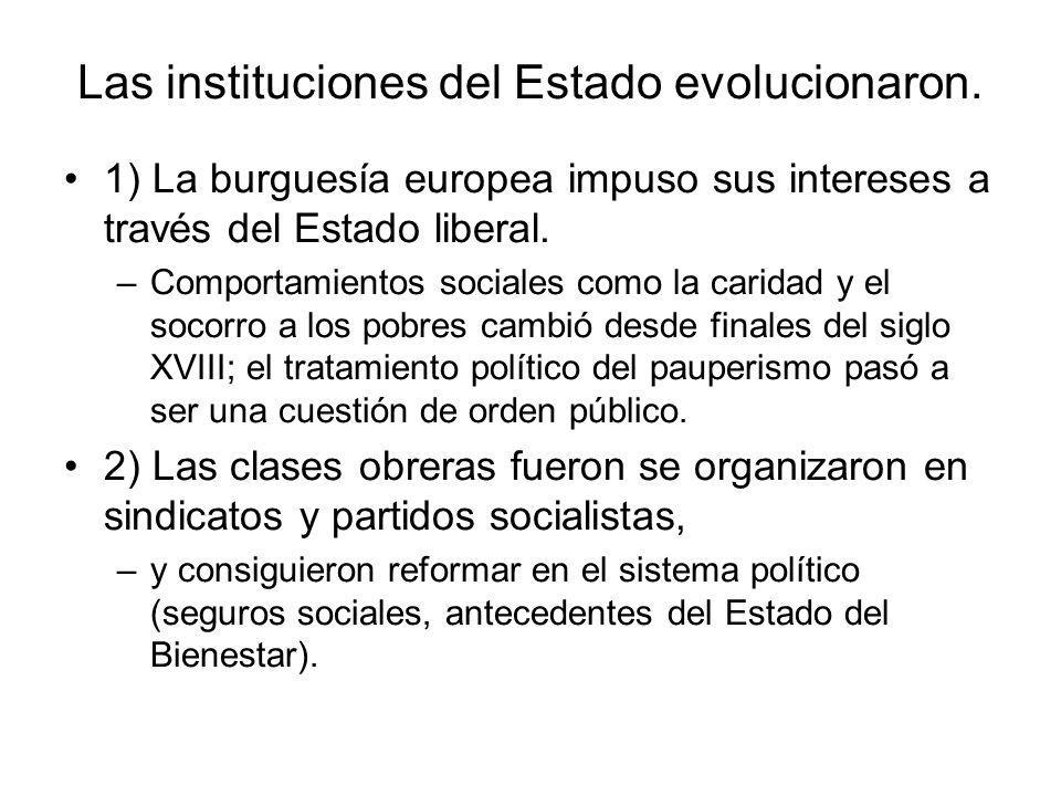 Las instituciones del Estado evolucionaron.