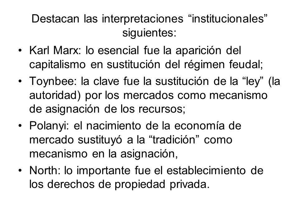 Destacan las interpretaciones institucionales siguientes: