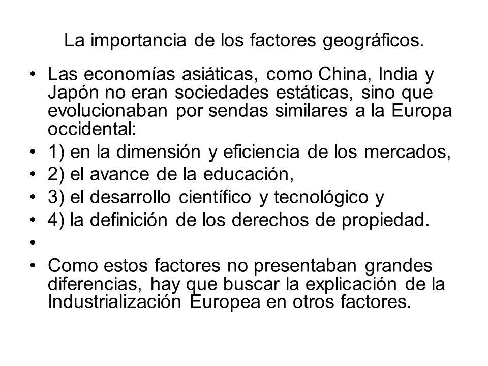 La importancia de los factores geográficos.