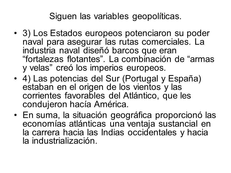 Siguen las variables geopolíticas.