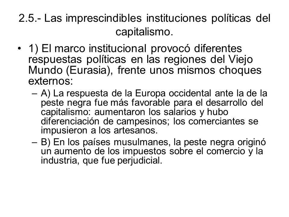 2.5.- Las imprescindibles instituciones políticas del capitalismo.