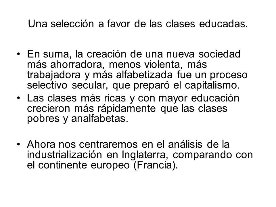 Una selección a favor de las clases educadas.