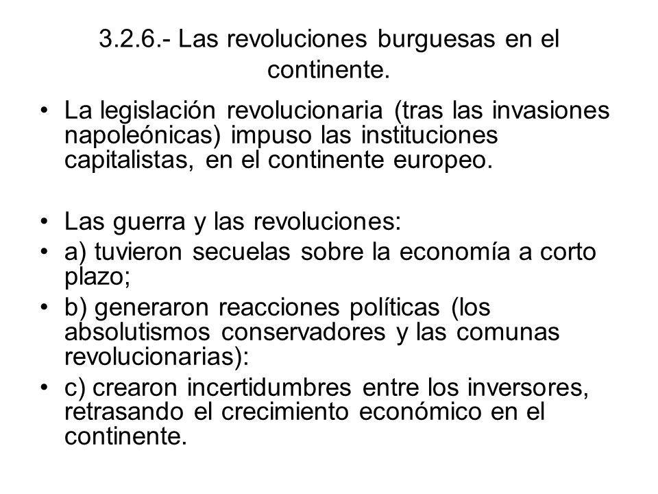 3.2.6.- Las revoluciones burguesas en el continente.