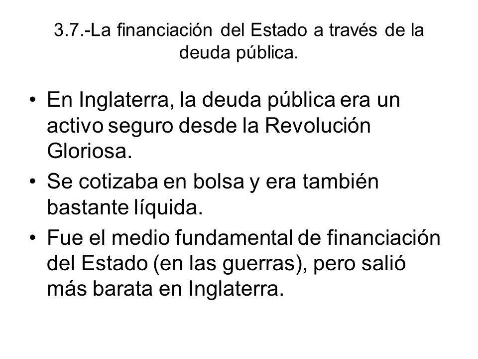 3.7.-La financiación del Estado a través de la deuda pública.