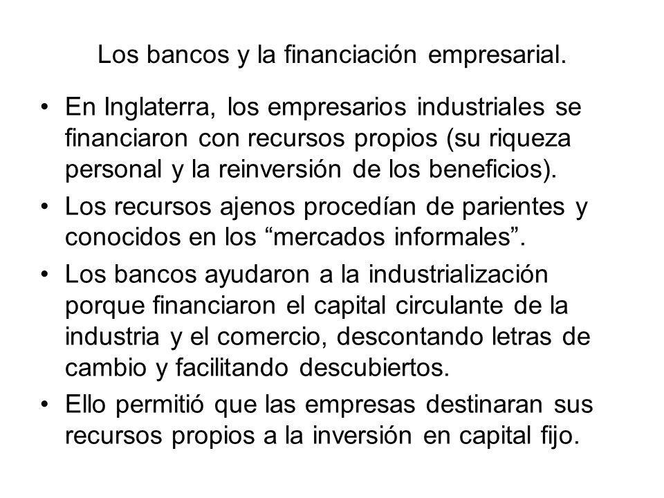 Los bancos y la financiación empresarial.