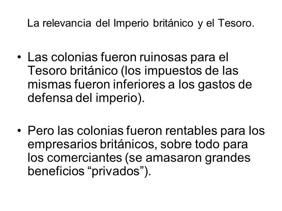 La relevancia del Imperio británico y el Tesoro.