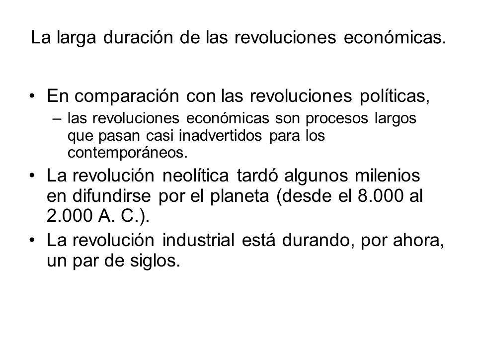 La larga duración de las revoluciones económicas.