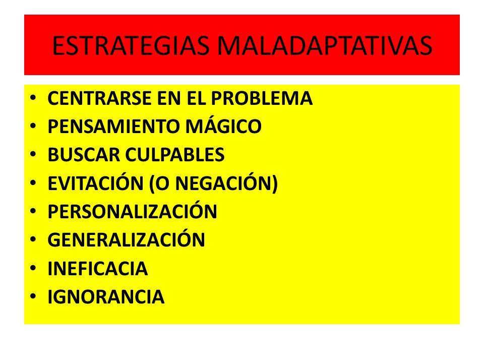 ESTRATEGIAS MALADAPTATIVAS