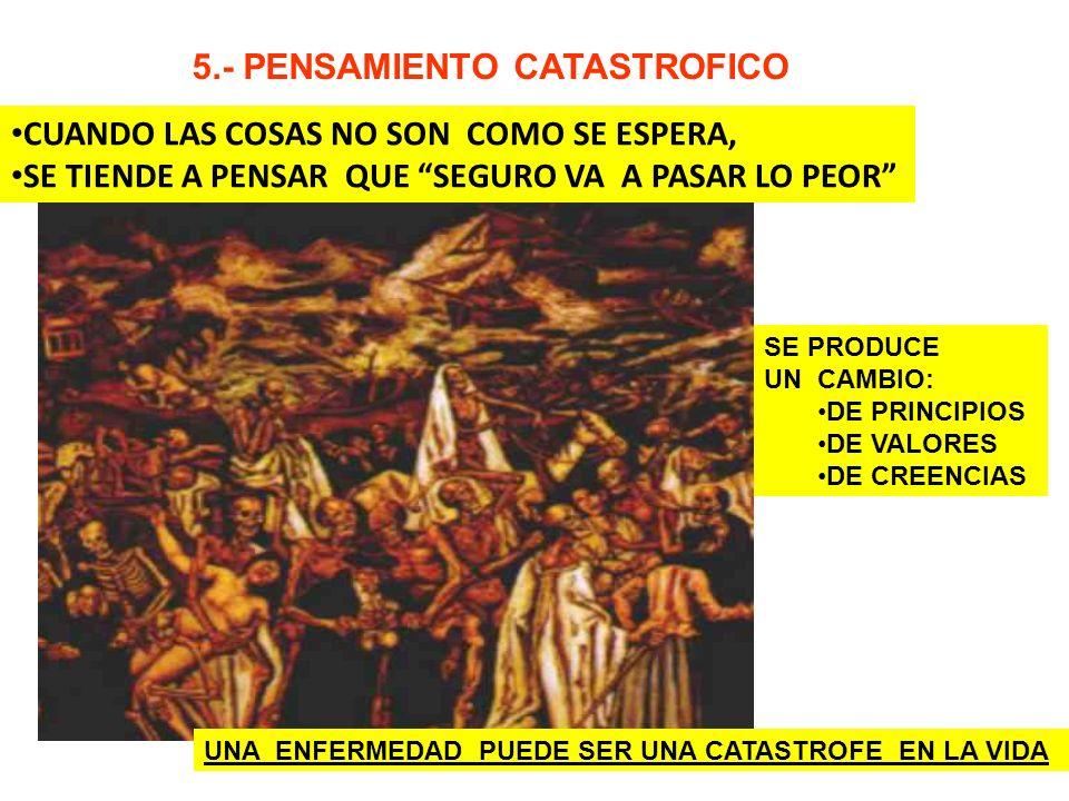 5.- PENSAMIENTO CATASTROFICO