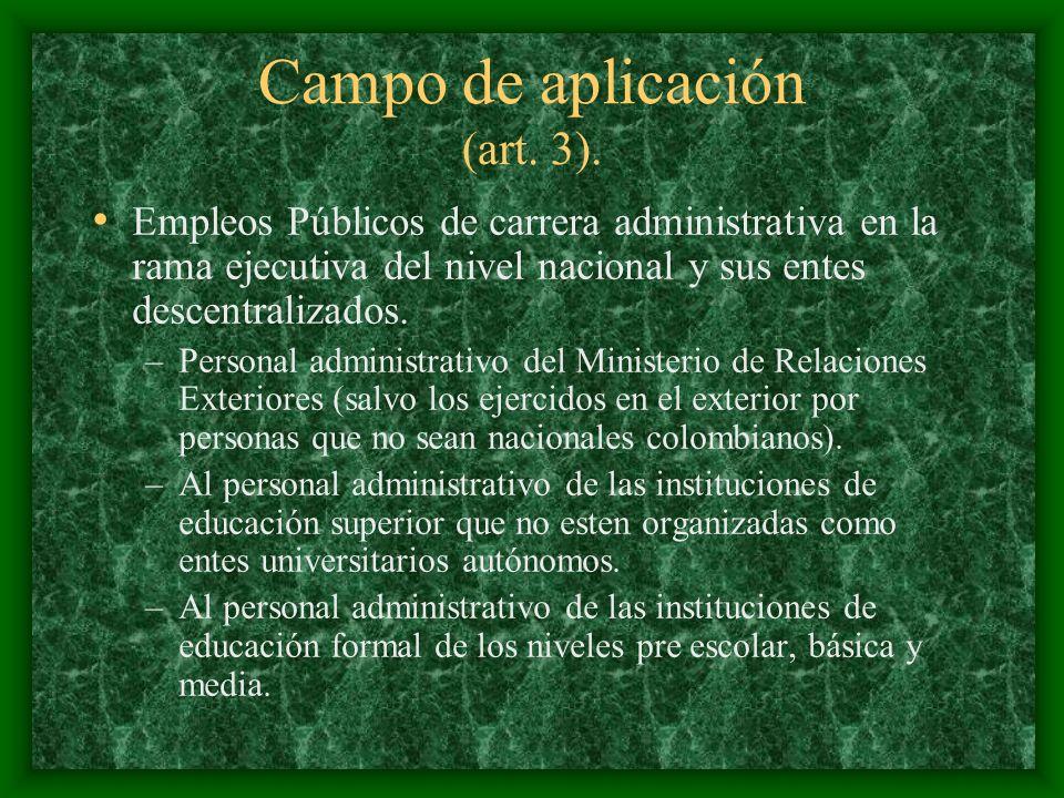 Campo de aplicación (art. 3).
