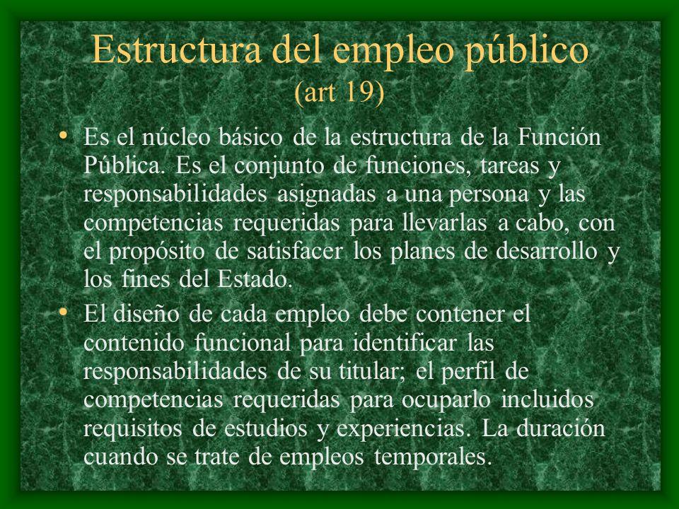 Estructura del empleo público (art 19)