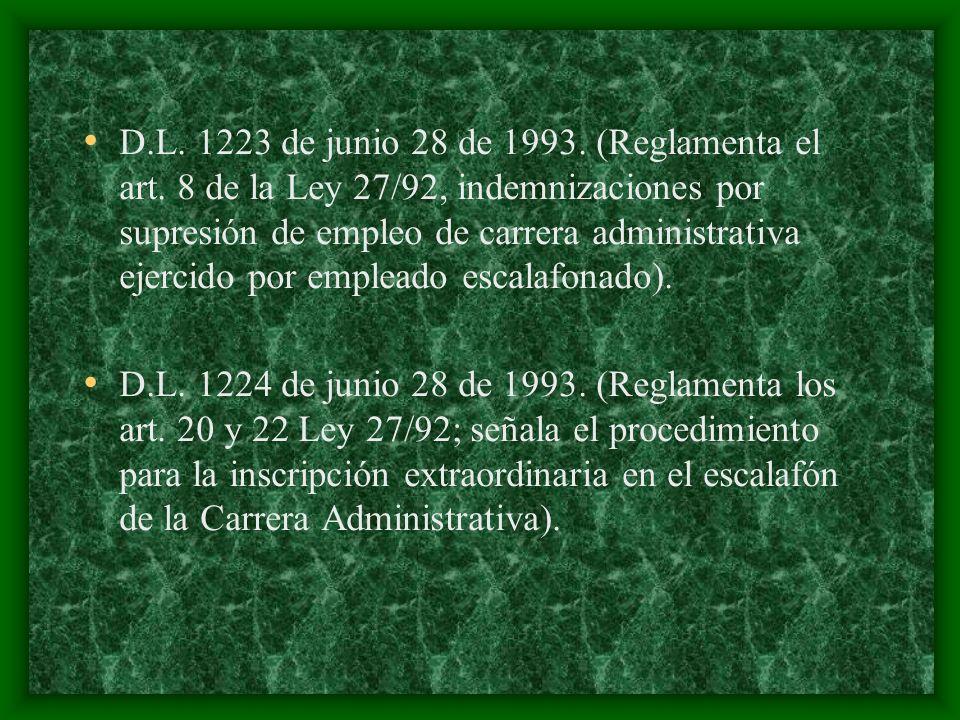 D. L. 1223 de junio 28 de 1993. (Reglamenta el art