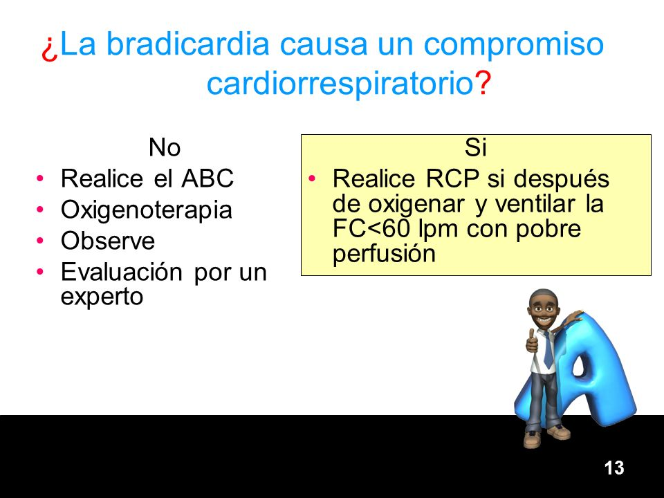 ¿La bradicardia causa un compromiso cardiorrespiratorio