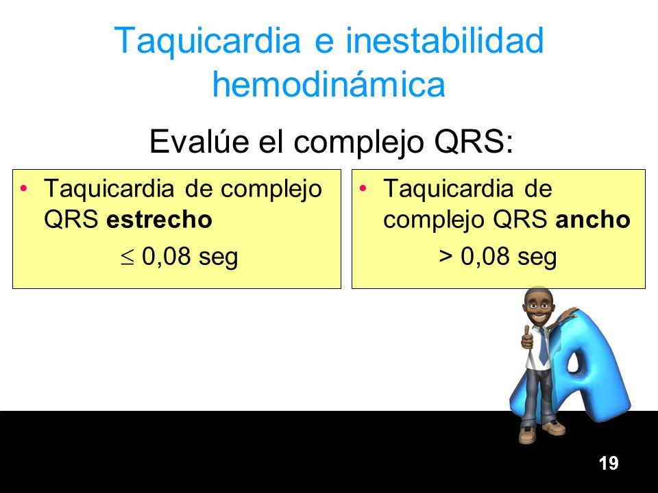 Taquicardia e inestabilidad hemodinámica