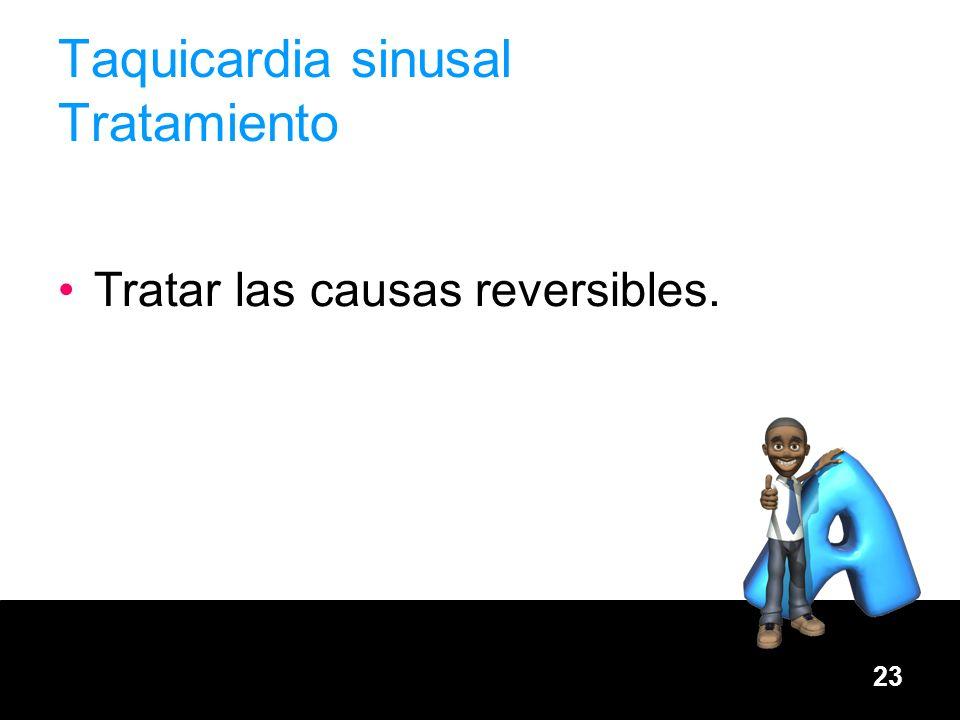 Taquicardia sinusal Tratamiento